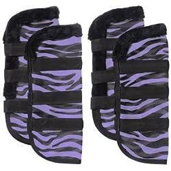 Tough 1 Zebra Mesh Fly Boots Zebra
