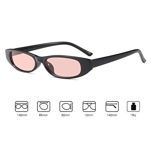 Retro de soleil carré cadre Hibote C5 Mini lunettes Petit Eyewear Vintage Mode Unisexe FdZaHqwxF