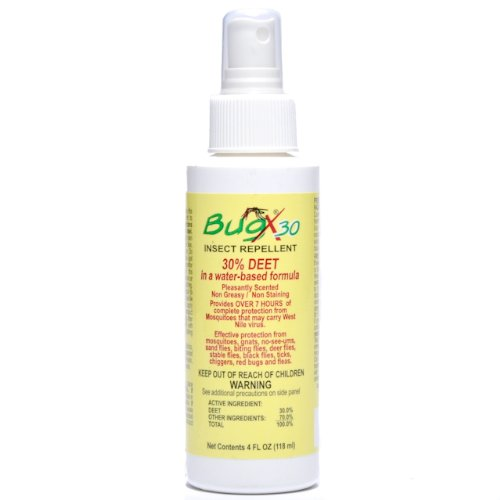Insect Repellent Bug X 30% Deet 4 Oz Pump Spray