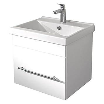 Badezimmermöbel Waschtisch 55 cm mit Unterschrank in ...