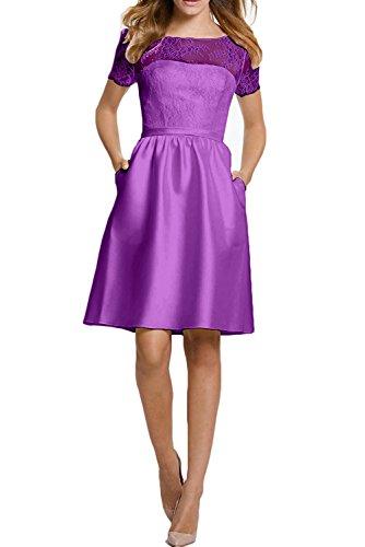 Cocktailkleider Kurz Gruen Lila Abiballkleider Elegant mia Ballkleider Abendkleider Knielang Abschlussballkleider La Spitze Braut OqzPaWTw