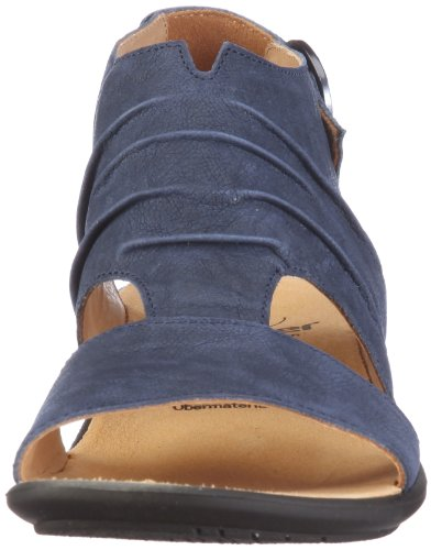 Ganter Fairy, Weite F 1-203112-3100 - Sandalias de vestir de cuero nobuck para mujer Azul