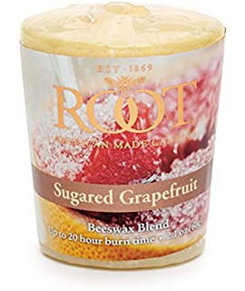 Root Candles 20-Hour Scented Beeswax Blend Votive Candles, 18-Count, Sugared
