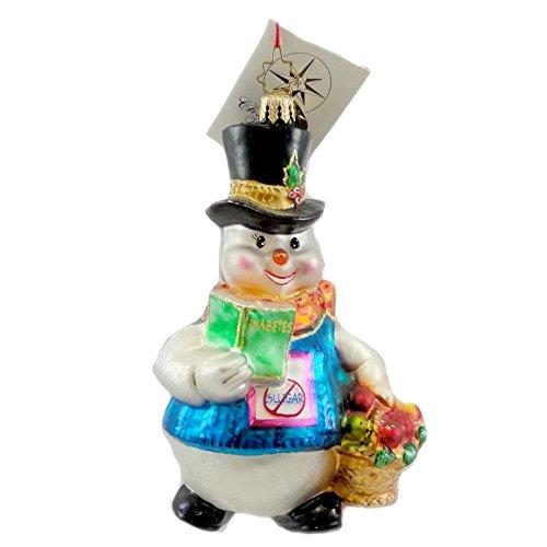 Christopher Radko SNOW SWEET Blown Glass Ornament Charity Diabetes
