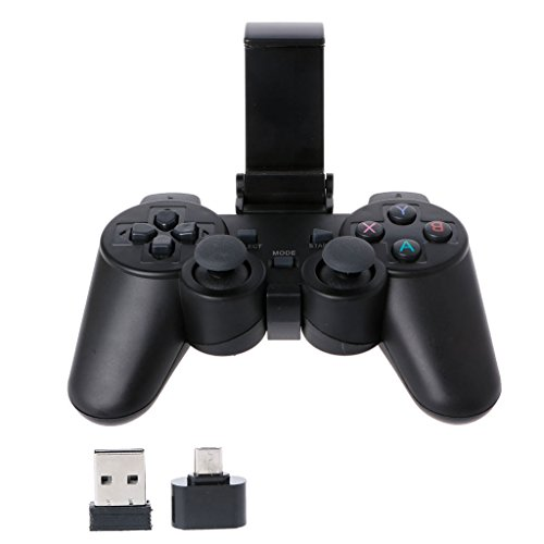 stoertuy 2.4G Wireless Controller Gamepad Micro USB OTG Adapter Holder for Android Phone TV Box