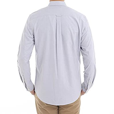 Men's Long Sleeve Shirt Regular Fit Solid Color Oxford Casual Button Down Dress Shirt