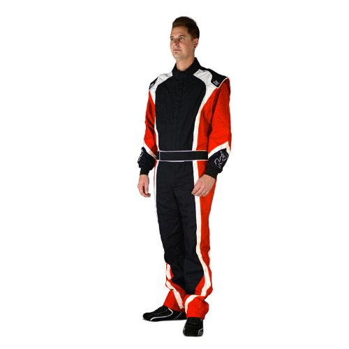 K1 Race Gear 10-APE-R-S Apex Level 2 Red Small Kart Racing Suit ()