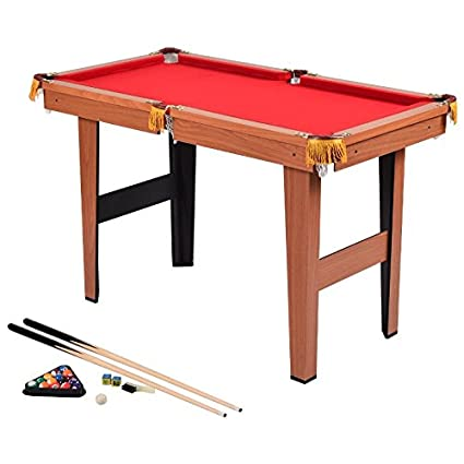 Amazoncom Mini Billiard Pool Table Set Cues Balls Brush Rack - Mini billiards table set