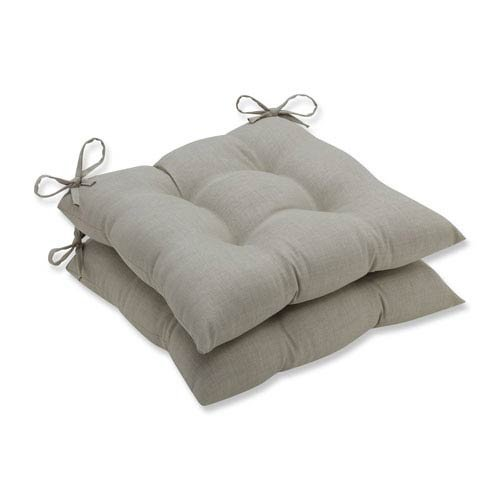 Pillow Perfect Outdoor/Indoor Rave Driftwood Wrought Iron Seat Cushion (Set of 2)