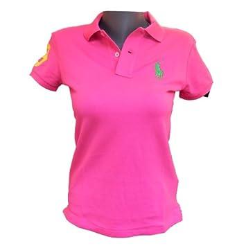 6734a68a73d2 Polo Ralph Lauren Femme Golf Rose Vert  Amazon.fr  Vêtements et ...