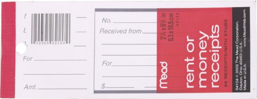 Mead Receipt Book (Mead Rent/Money Receipts, 86 Count, Undated)