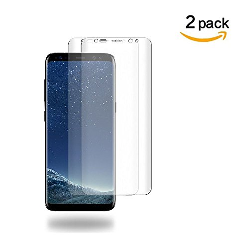 [2 PACK] Samsung Galaxy S8 Screen Protector (Case Friendly), Goreson [Full Coverage] PET Soft Flexible TPU film with Lifetime Replacement Warranty
