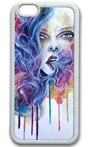 Abstract With Breath Life Gives A New Creation Customized Rubber White iphone 6 plus Case On Custom Service