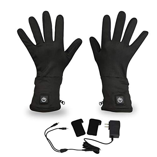 delspring Battery Heated Glove Liners 7.4v - For for Running, Skiing, Cycling, Pain, Stiffness (M) (Heated Glove Liners Battery)