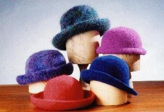 - Crocheted Felt Hats Pattern (AC-11)