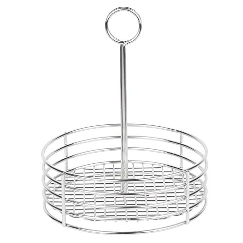G.E.T. Enterprises Stainless Steel Round Stainless Steel Condiment Caddy Stainless Steel Table Caddies Collection 4-81850 (Pack of 1) by GET (Image #2)