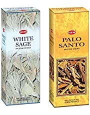 Hem White Sage & Palo Santo Incense Sticks |Pack of 2 Boxes|Total 240 Sticks|