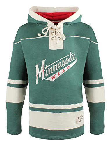Minnesota Wild Men's Alternate Lacer Heavyweight Style 2 Hoodie, Large, Dark Green ()