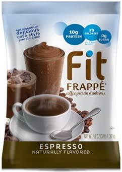 Big Train Fit Frapp Coffee Protein Drink Mix Espresso Two 3 Lb Bags