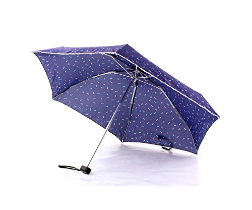 Weight 190g Super Light And Small Foldable Umbrellas Women Mini Sun Parasol Man Travel Umbrella Lady Mini Pocket Rain Umbrella,Navy ship spear