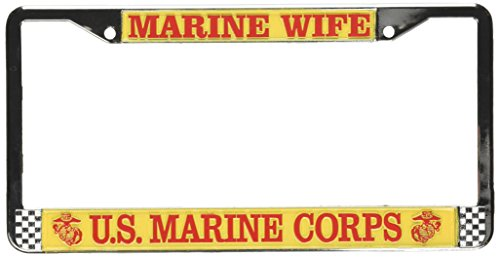 Honor Country Marine Wife License Plate Frame