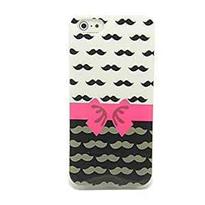Chaplin Moustache with Bowknot Pattern IMD Craft TPU Case for iPhone 5/5S