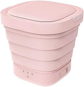 LHF Mini Foldable Washing Machine, Portable Mini Washing Machine Folding Laundry Tub Basic Automatic Clothes Washing Machine (Color : Pink)