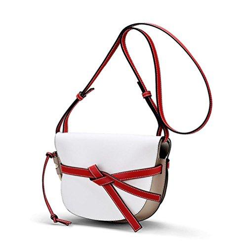Handbags Bags Genuine Women Leather TINGTING Hit Color Bow Vintage Shoulder Ladies Shoulder Bag Messenger 2 Tie Bags ZEgRq