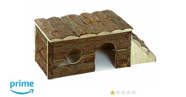 Karlie 84280 Casa Roedor de Madera Natural Grande con Escalera: Amazon.es: Productos para mascotas