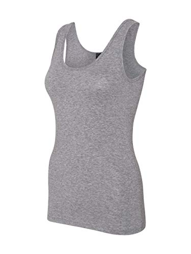 Anvil 2420L Ladies' Stretch Tank Heather Graphite S