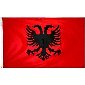 Amazoncom US Flag Store Albania Ft X Ft Printed Polyester - Albanian flag