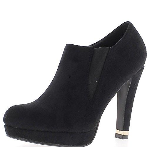 Bajo negro botas de tacón 11 cm y plataforma de mirada ante con cremallera