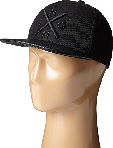 NIXON Men's Exchange Snap Back Hat All Black/Black Hat - Nixon Black Hat
