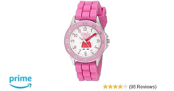 Amazon.com: Peppa Pig Kids PPG9000 Analog Display Japanese Quartz Pink Watch: Watches