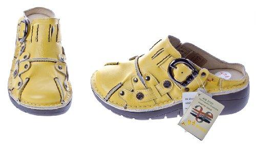 TMA - Sandalias de vestir de cuero para mujer amarillo - amarillo