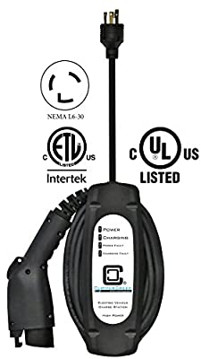 ClipperCreek LCS-20P, 240V, 16A, EV Charging Station with L6-30 Plug, 25 ft Cable, Safety Certified, Made in America