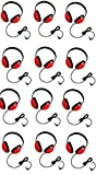 Califone 2800-RD Listening First Headphones in Red (Set of 12)