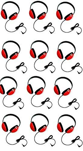 - Califone 2800-RD Listening First Headphones in Red (Set of 12)