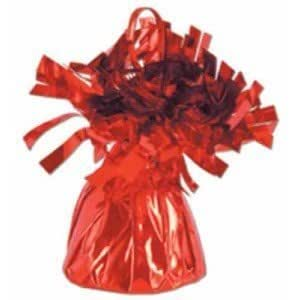 Red Metallic Balloon Weight, 6oz 6 Per Pack