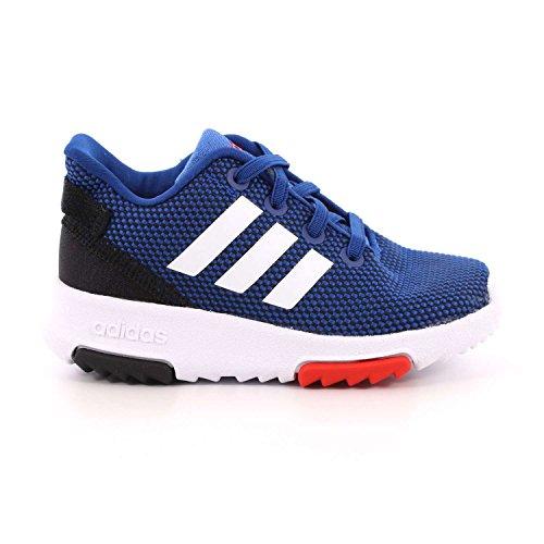 adidas Unisex Baby Racer TR Sneaker Blau (Hi-Res Blue/Footwear White/Hi-Res Red)