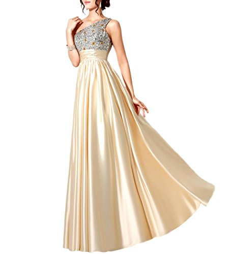 Long Party Dress (Rekade Party Gowns Beaded [ For Women Champagne ] A Line Long Prom Dresses (Silver Champagne, 10))
