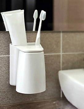 qiuxi imán de moderno cuarto de baño accesorios cepillo de dientes titular baño cocina familia cepillo de dientes ventosa soporte magnético de ...