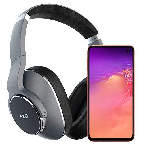 Samsung Galaxy S10e Factory Unlocked Phone with 256GB (U.S. Warranty), Flamingo Pink w/AKG N700NC Headphones