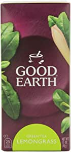 Good Earth Green Tea, Lemongrass, 25-Count Tea Bags (Pack of 6)