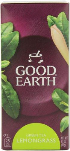 Good Earth Green Tea, Lemongrass, 25-Count Tea Bags (Pack of 6)