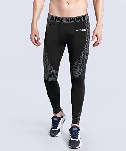 De 28 Pour Base Leggings Les Pantalon Saisons Hommes Cool Argent Collants Compression Toutes Amzsport 5gARqfxwA