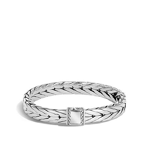 John Hardy Men's Modern Chain Silver Medium Bracelet (9x4.5mm) with Pusher Clasp, Size M ()