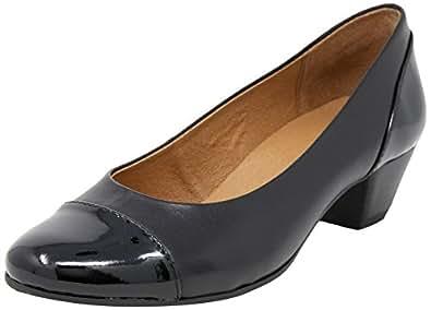 WIDE STEPS Acton Women Shoes,Black Pat/Glove,7.5 US