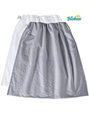 Diaper Pail Bags 2 Pack, Reusable Water-Resistant Cloth Diaper Pail Liner for Dirty Diaper Wet Bag 29 x 29 inch, White + Grey