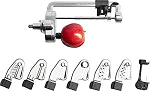 KitchenAid KSM2APC Spiralizer Plus Attachment with Peel, Core and Slice, Silver